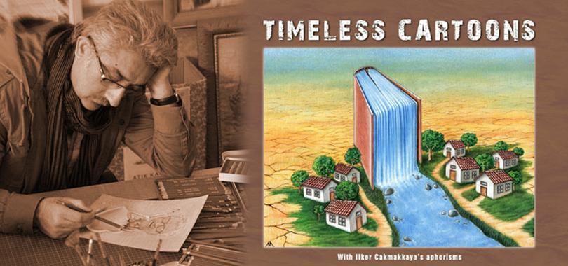 """Aşkın Ayrancıoğlu'nun """"TIMELESS CARTOONS"""" Kitabı İngiltere'de yayımlandı."""