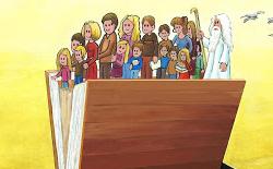 """Menekşe Çam'ın Karikatürleri """"Cartoons for Future"""" Sergisinde"""