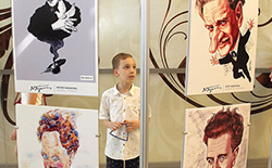 Vatan Şairi Komünist Nâzım Hikmet'i, Moskova'da karikatürlerle andık