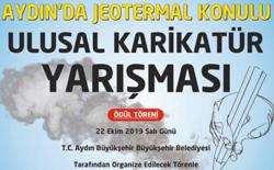 """Aydın Büyükşehir Belediyesi """"Jeotermal"""" Konulu Ulusal Karikatür Yarışması 2019"""
