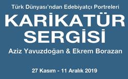 Türk Dünyası Edebiyatçı Portreleri Sergisi Anadolu Üniversitesi İİBF Sergi Salonunda