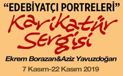 """Eskişehir'de """"Edebiyatçı Portreleri"""" Karikatür Sergisi"""