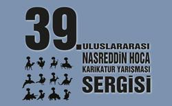 39. Uluslararası Nasreddin Hoca Karikatür Yarışması Karikatür Sergisi İzmir'de